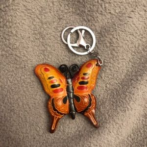 🌺 Vintage Butterfly Keychain